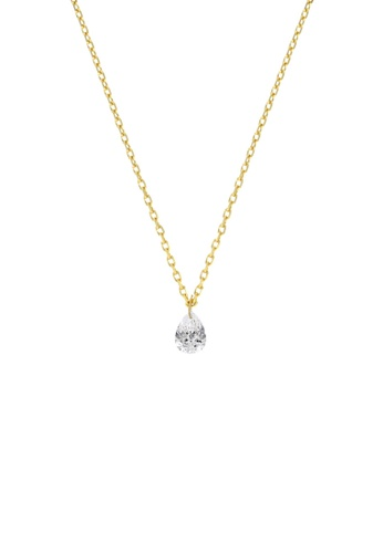 Khoe yellow Khoe 18K Yellow Gold Cleo Diamond Necklace 49A8FAC4CE6C25GS_1