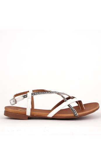 7soles white Moira Sandals 83BA9SH09E6D57GS_1