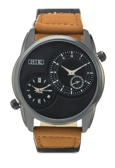 Men's Waterproof Analogue Watch With PU Strap