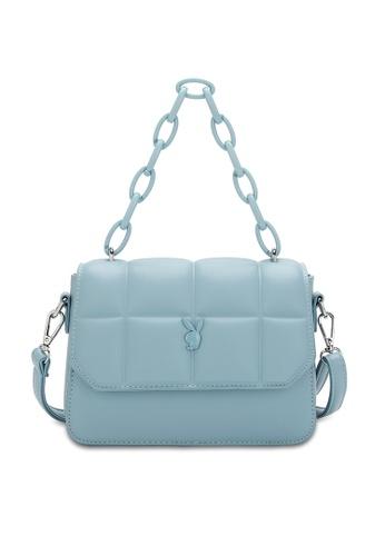 PLAYBOY BUNNY blue Quited Sling Bag F6DDCAC3C80C07GS_1