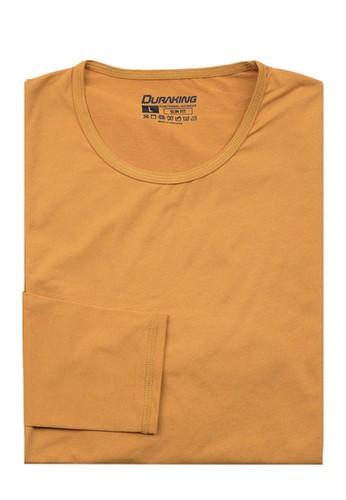 Duraking yellow Duraking Kaos Curve Tee Long Sleeve Yellow Mustard 1E427AA43836D5GS_1