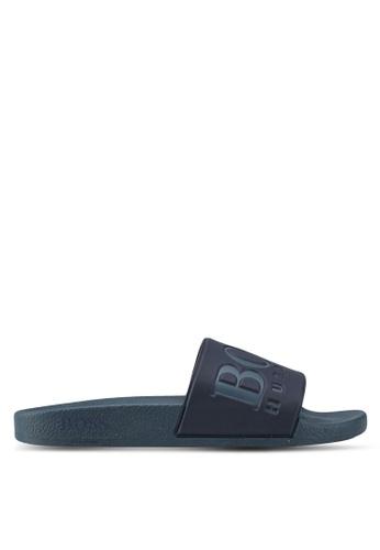 BOSS green Solar Slid Logo Sandals - Boss Athleisure A0224SHCEB7028GS_1
