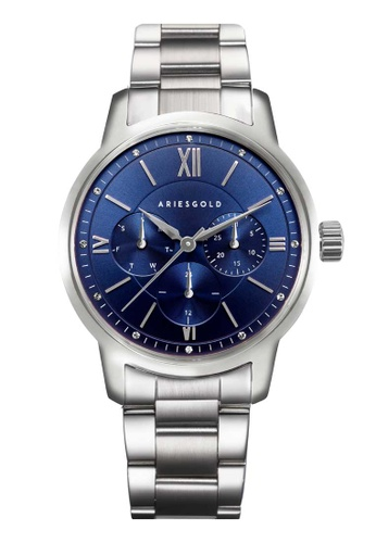 Aries Gold silver Aries Gold Urban Eternal Blue and Silver Stainless Steel Watch 4220BACABF6BDDGS_1