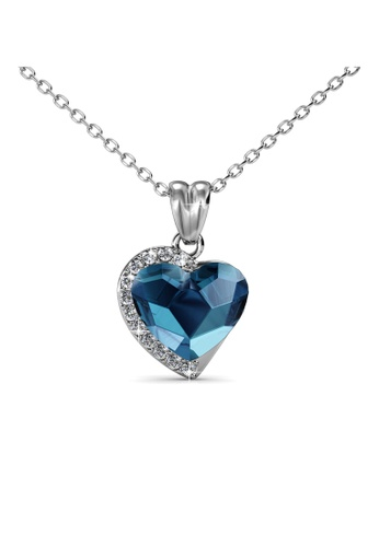 Her Jewellery blue Her Jewellery Fond Love Pendant (Blue) with Necklace Chain with 18K Gold Plated HE210AC0GFHNSG_1