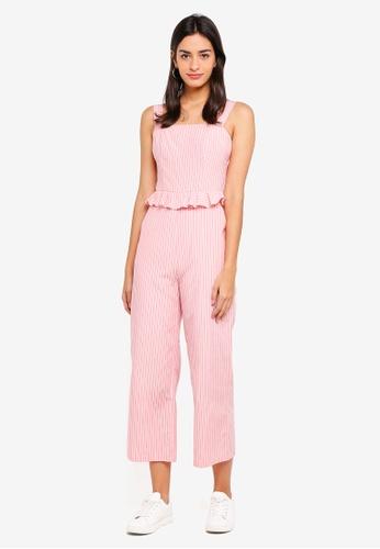 ZALORA pink Ruffles Waist Jumpsuit BDD20AA73DBEA6GS_1