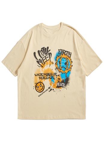 Twenty Eight Shoes Graffited Printed Short T-shirt 1682S21 53D50AA92119D4GS_1