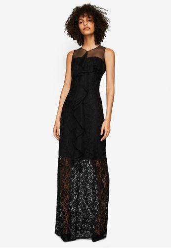 Shop Mango Lace Detail Gown Online on ZALORA Philippines