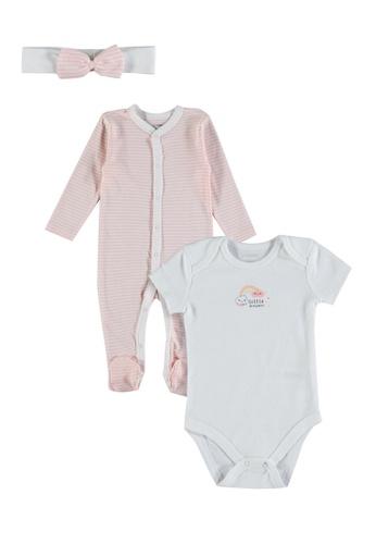 LC Waikiki pink 3-Pack Newborn Cotton Set BC52EKAD9D9C34GS_1