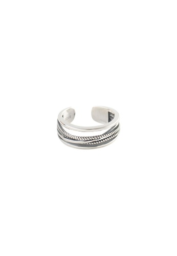 OrBeing 白色 Premium S925 Sliver Geometric Ring 3734EAC69A6AE7GS_1