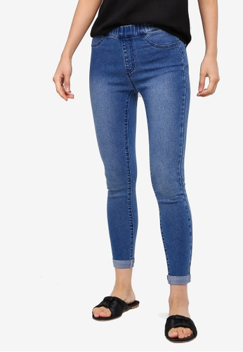 ZALORA BASICS blue Basic Denim Jeggings FEA4FAA17A337DGS_1