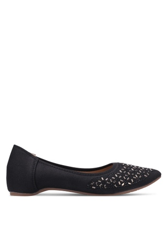 Spiffy black Sequin Embroidered Flats SP352SH0S6DYMY_1