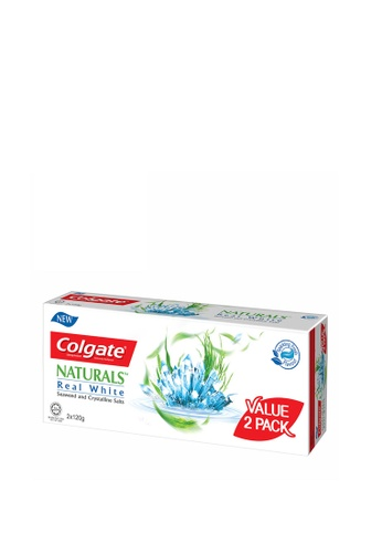 COLGATE Colgate Naturals Real White (Seaweed & Crystalline Salts) Whitening Toothpaste Valuepack 120g x 2 72E5AES0B57FFFGS_1
