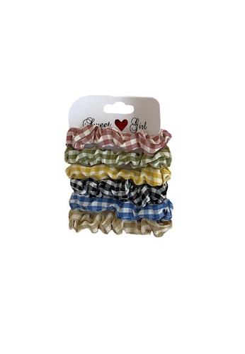 Glamorbit multi Checkered Hair Scrunchies Set AA6B8AC33389E2GS_1