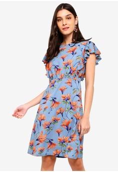 54785241ba6 ZALORA blue and multi Ruffles Dress 15764AA4151DA7GS 1