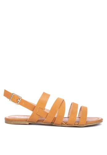 7f79924189b5 Shop Alberto Strappy Sling Back Sandals Flats Online on ZALORA Philippines