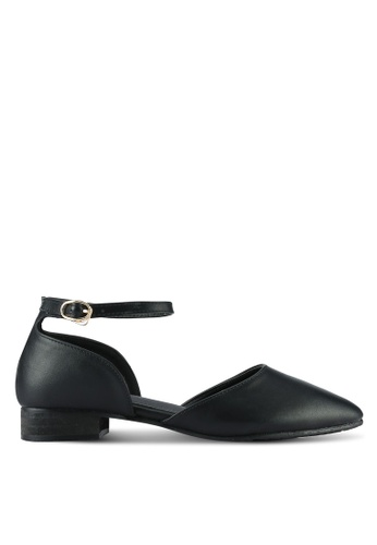 Twenty Eight Shoes black Ankle Strap Ballet Flats TW281SH0RLU9MY_1