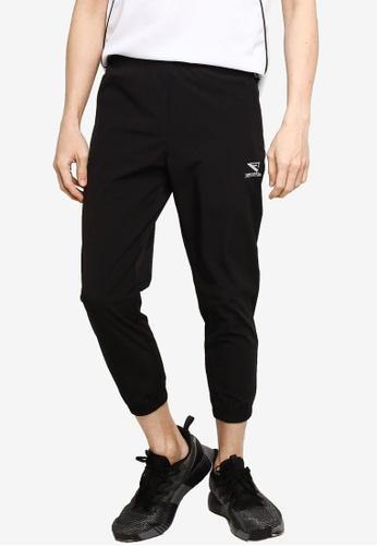 361° black Running Series Sports Cropped Pants B3CB4AA4A0B00BGS_1