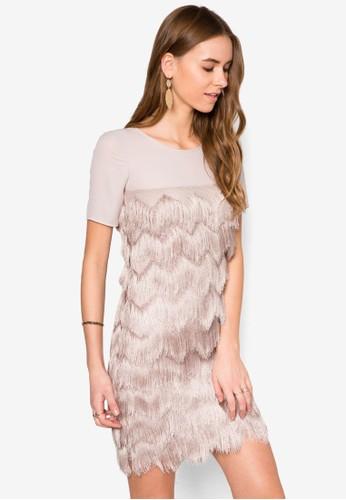 流蘇拼zalora 衣服評價接洋裝, 服飾, 服飾