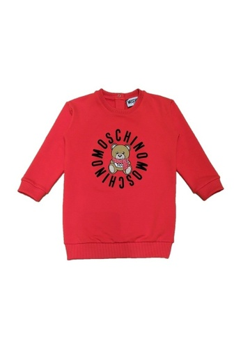 MOSCHINO BABY KID TEEN red MOSCHINO BABY GIRLS DRESS AF79FKA6F19090GS_1