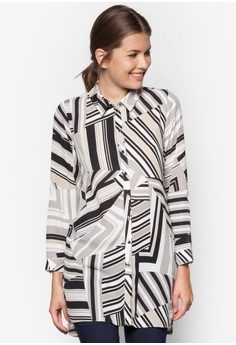 Petite Printed Longline Shirt