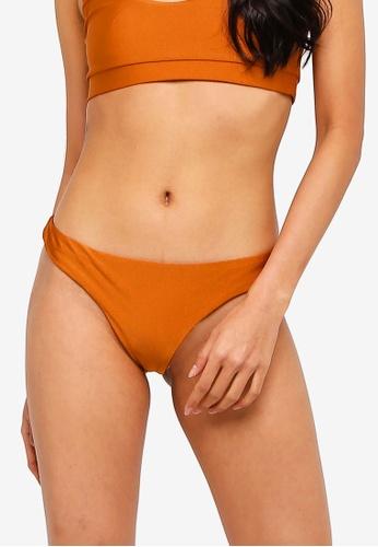 NA-KD gold Ruched Back Bikini Pantie 454A5USEF4EBE6GS_1