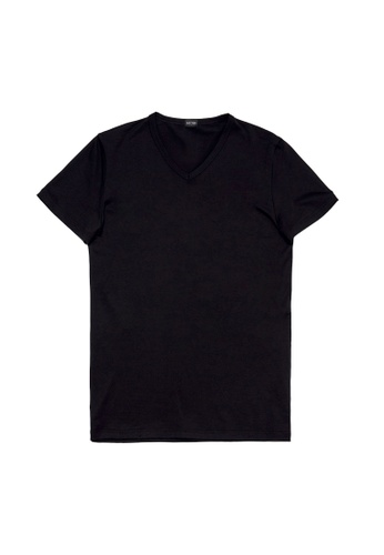 HOM black Comfort Tee-Shirt V Neck 35403US24E9852GS_1