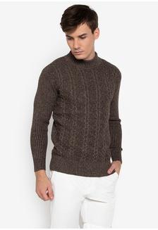 19031c6a488e59 Diamond Cable Knit Turtle Neck Sweater 879A3AACEACE63GS 1