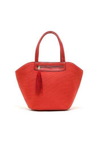 LULUGIFT orange Lulugift Japan Imported Waterproof Bat Shape Shoulder Bag Orange LU989AC74FLPMY_1