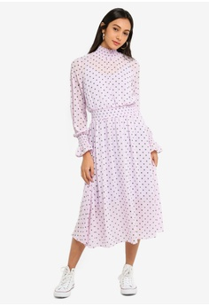 b4fc50c6ac7 Glamorous purple Shirred Dress A742BAA9E80E0DGS 1
