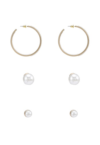 ALDO white Uruclyaw Pierced Earrings Pack 8605BACB83A6ACGS_1