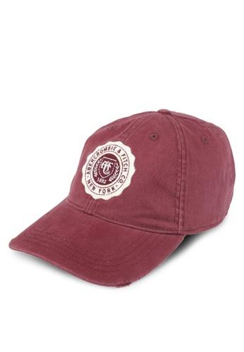 Abercrombie & Fitch red Twill Logo Cap AB423AC0T0AKMY_1