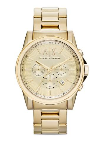 Armani Exchange gold Outerbanks Chronograph Watch AX2099 C7A5CAC4B6DE41GS_1