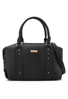 Studded Fashion Convertible Boston Bag