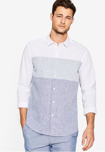ESPRIT white Woven Long Sleeve Shirt ES374AA79CSEMY_1