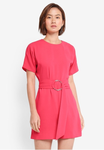 WAREHOUSE pink O Ring Playsuit 83F97AA7020982GS_1