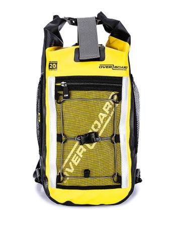 Overboard yellow Pro-Sports 20 Liter Waterproof Backpack 3B8BFAC324EE02GS_1