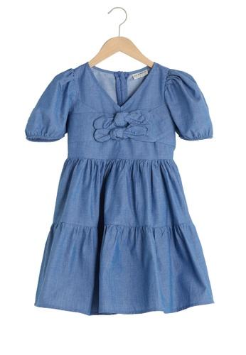 LC Waikiki blue Bow Dress 9D7D0KAABCBDC2GS_1
