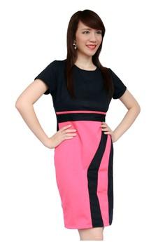 Color-blocked Sheath Dress