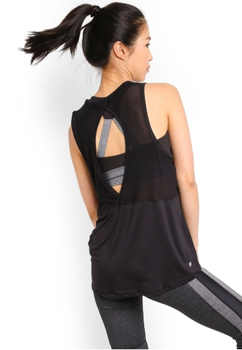 Cotton On Body black Mesh Back Tank Top E5C8EAAFD95804GS_1