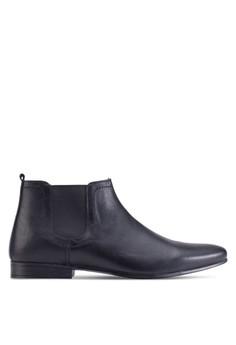 Chelsea 皮革短靴