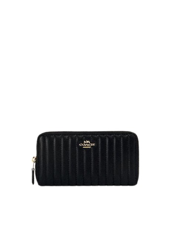 Coach black Coach Quilted Accordian 2855 Zip Wallet In Black 1A82AAC5416BB9GS_1