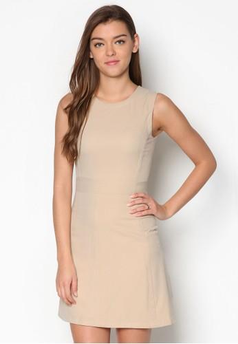 簡約無esprit分店袖洋裝, 服飾, 洋裝