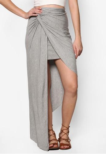 不對稱扭結裹飾長裙, 服飾esprit服飾, 裙子