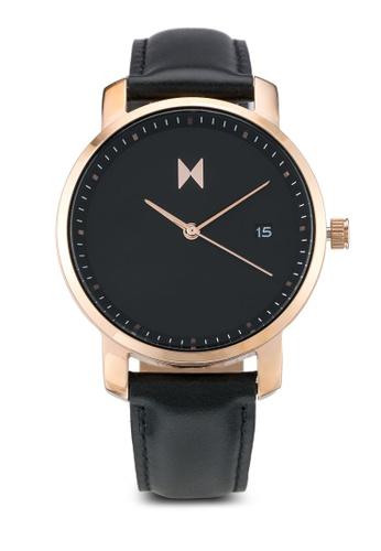 MVMT black MVMT Signature Watch - Rose Gold/Black Leather MV187AC0SZQTMY_1