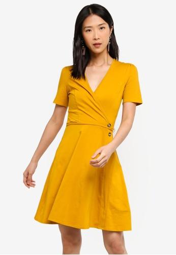 Dorothy Perkins 橘色 Ochre Horn Wrap Dress 82BFFAAE1AA81EGS_1