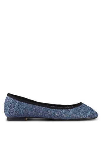 ZALORA blue Soft Weave Material Flats F4BE2SH4BCDBB6GS_1