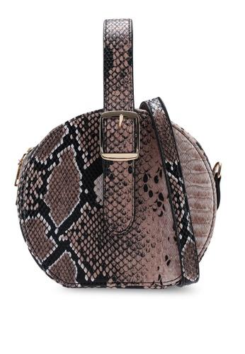 07938fc3eeb Buy Red's Revenge Faux Snake Skin Round Bag Online on ZALORA Singapore
