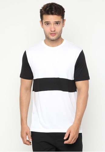JOULDAS white Jouldas Casual Black and White Men T-Shirt 56256AA950F0BAGS_1