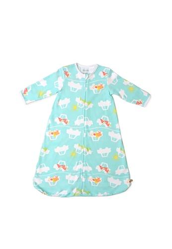 OETEO green and multi Road Trip Easysuit Sleepbag (Green) 49161KC9005AC7GS_1