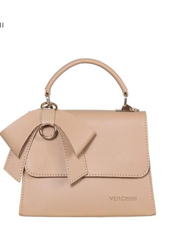 Verchini beige Verchini Front Flap Top Handle Bag EBCF9AC8375FC3GS_1